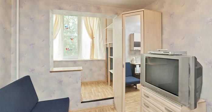 Практичная квартира студия эконом класса посуточно в Екатеринбурге